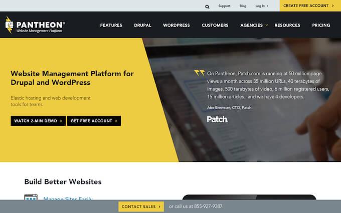 WordPress & Drupal Hosting and Website Platform
