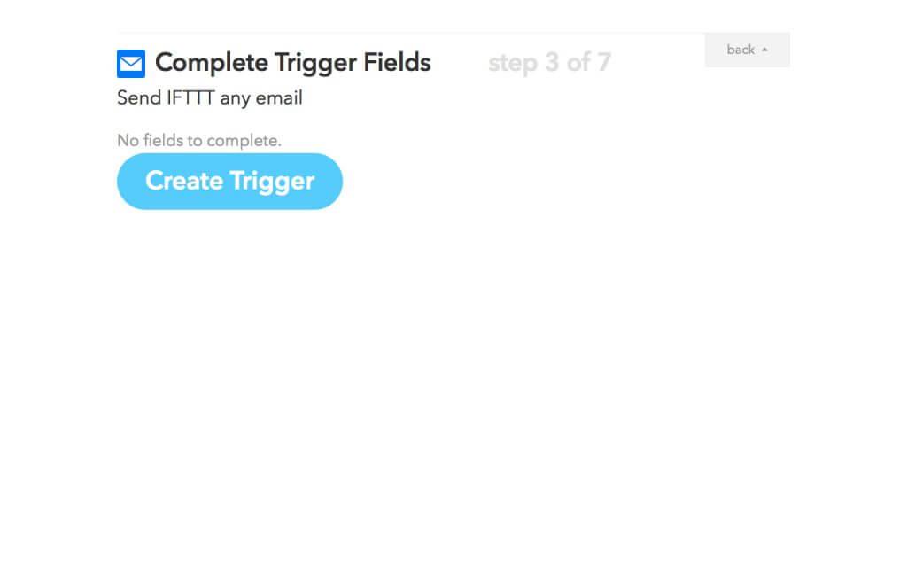 「Create Trigger」ボタンをクリックする