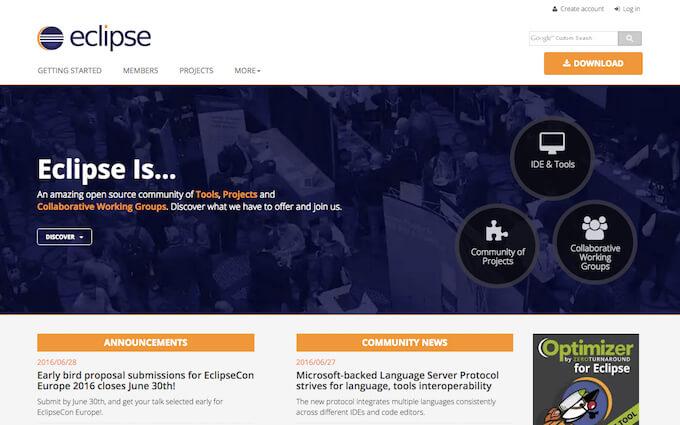 Eclipseの公式サイト