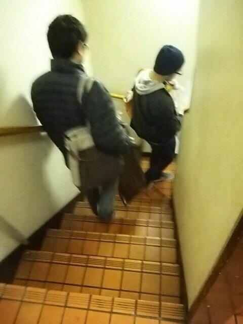 新宿MMS階段